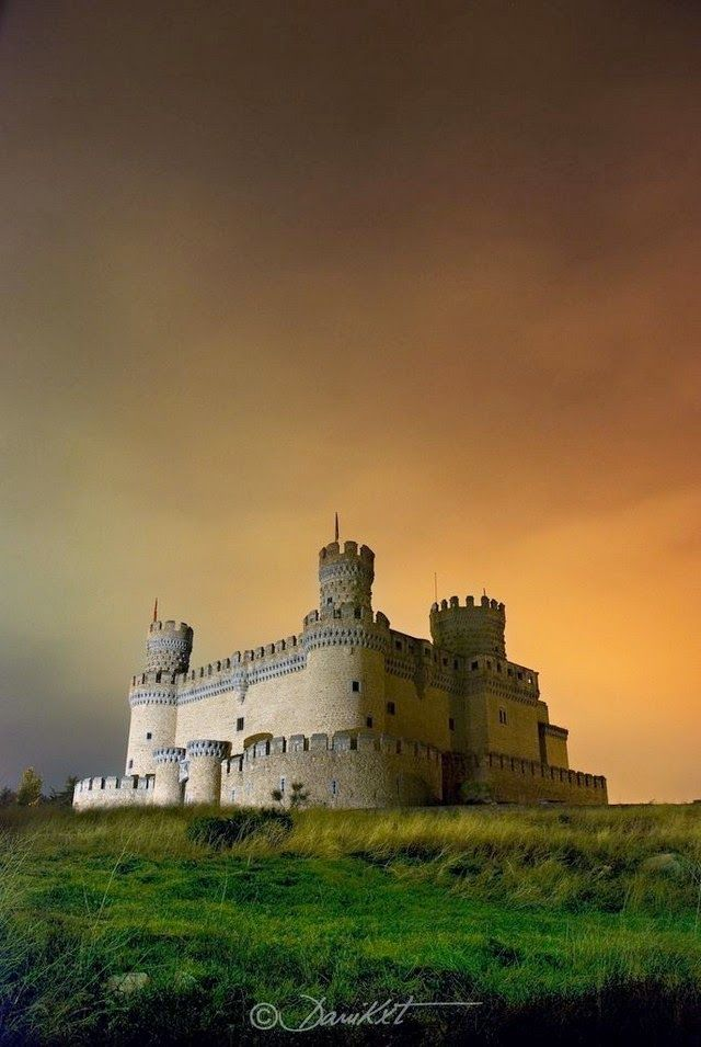 The Castle of Mendoza,  a 15th century palace-fortress located in Manzanares el Real. Today, it is one of the best preserved castles in Madrid region and hosts an beautiful collection of royal tapestries.