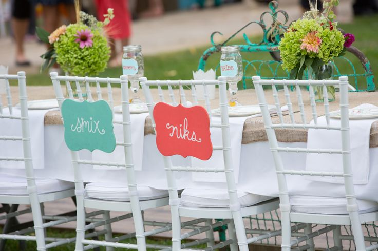 Bride and groom head table at outdoor reception in Swift Current, Saskatchwan