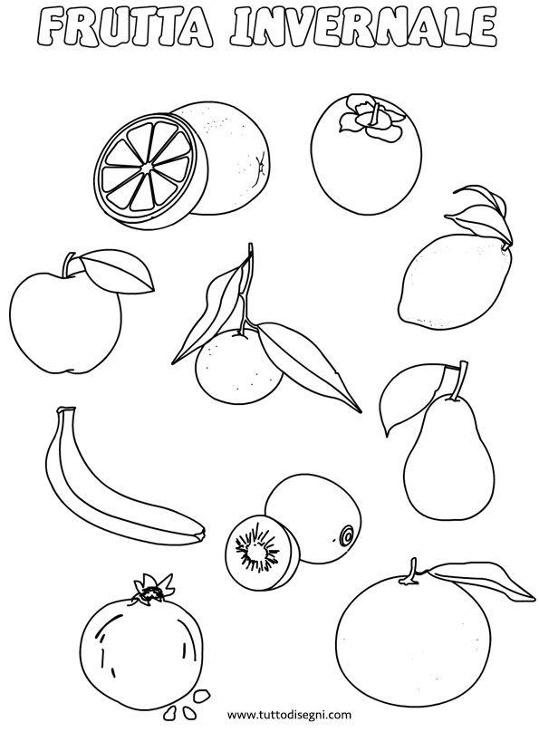 Frutta Da Colorare E Stampare Per Bambini