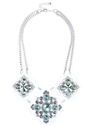 Miss Selfridge LIMITED EDITION GREEN PERSPEX NECKLACE