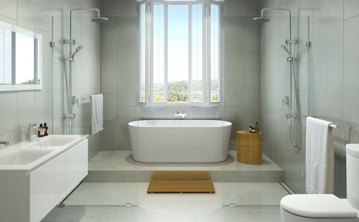 Retreat bathroom available at bunnings retreat spa for Freestanding tub vs built in