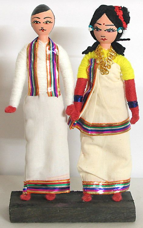 Couple from Kerala (Wire, Cloth and Wool)