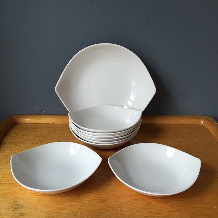 Modern Eva Zeisel White Dishes Dining Ware 1950s — $65 Apt Therapy Marketplace