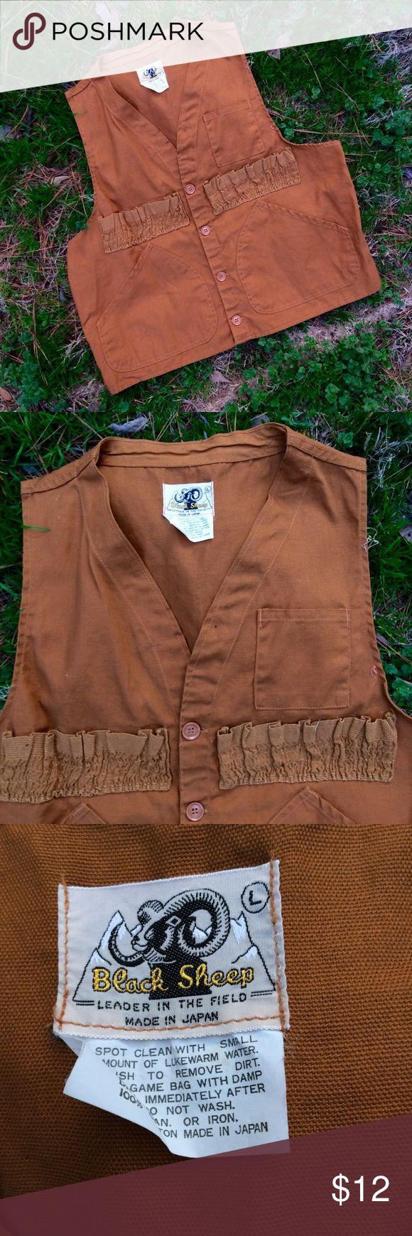 Vintage Black Sheep hunting vest Vintage Black Sheep hunting vest. Missing back panel. Overall great condition. Men's size L. Vintage Suits & Blazers Vests #menssuitsvintage