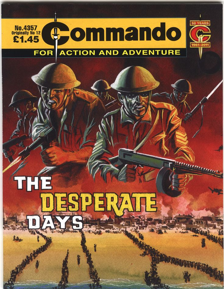 a comic cover featuring British tommies firing thier weapons