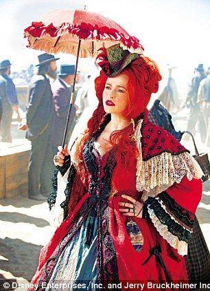 The Lone Ranger has a cast including Helena Bonham Carter as a saloon-bar mistress