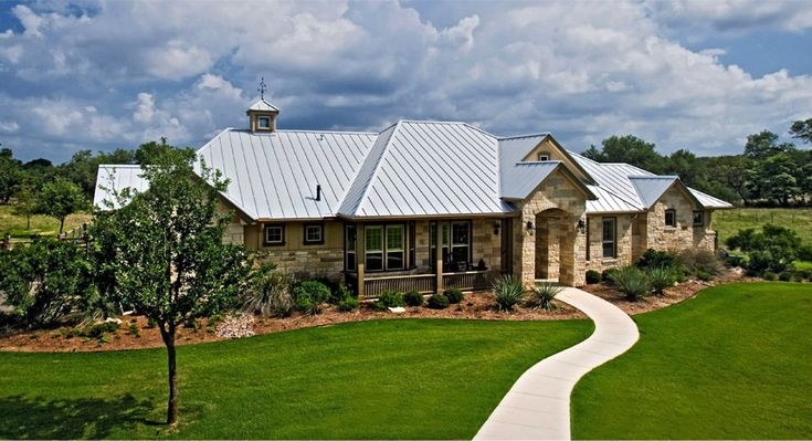 944 best images about metal roof metal tile roofing on for Texas hill country stone homes