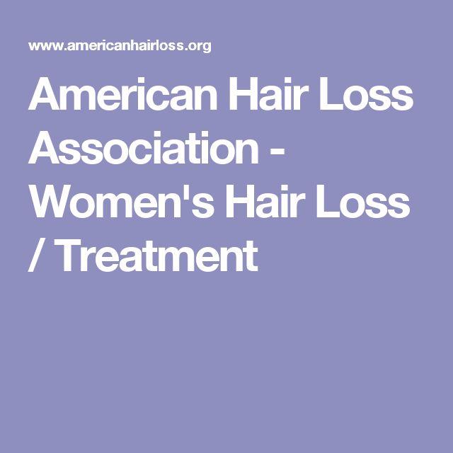 American Hair Loss Association - Women's Hair Loss / Treatment
