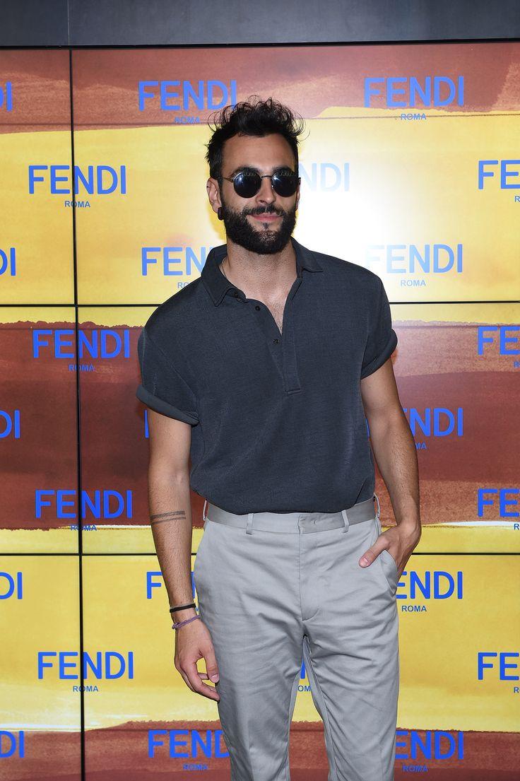 Marco Mengoni at the Fendi Men's Spring/Summer 2017 fashion show.