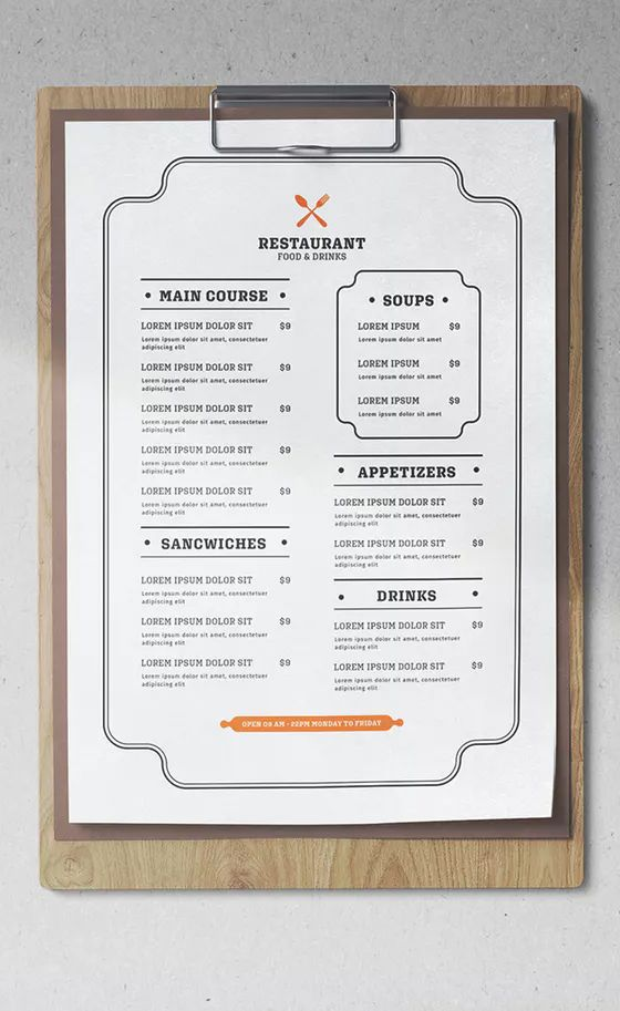 minimalist restaurant menu template psd ai well organized layers