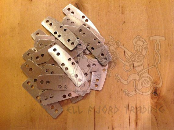 "100 Lamellar ""D"" Plates for SCA armor of Aluminum 6061-T6"