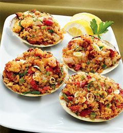 New England Baked Stuffed Clams #appetizers