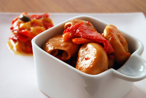 Seppioline in salsa di peperoni allo zafferano