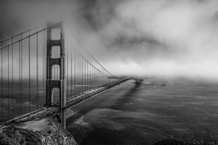 Lost in the Fog B&W - My last post for a few weeks. Off to Hawaii, have a great August all :).