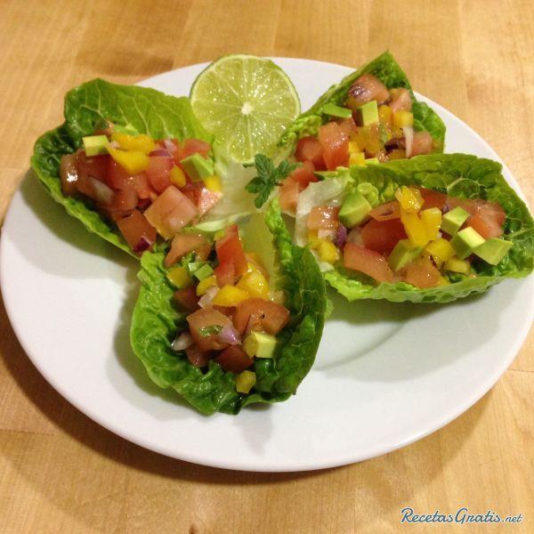 Tacos de lechuga vegetarianos #RecetasVeganas #ComidaVegetariana #ComidaVegana #ProteínaVegetal #ComidaSana #GoVeg#Tacos #Lechuga