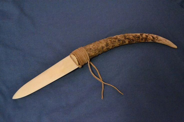 Handcrafted bone knife.