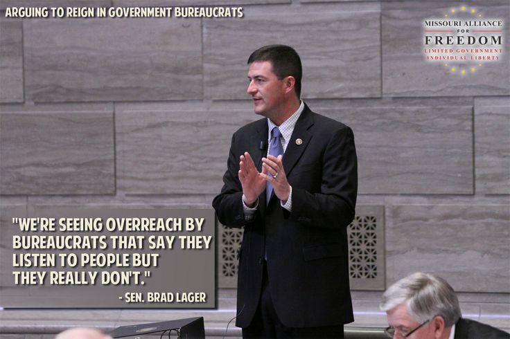 Sen. Lager arguing to reign in bureaucratic overreach.