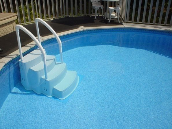 Mejores 84 im genes de above ground pool decks en for Ideas para piscinas intex