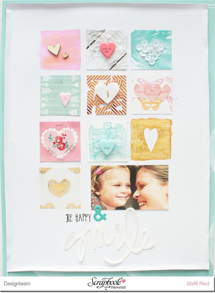 Be happy & Smile #scrapbooking #layout Steffi Ried