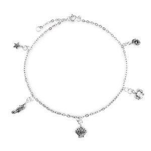 Bling Jewelry Sea Life Charm Sterling Silver Anklet 10 Inch Bling Jewelry. Save 52 Off!. $29.99. Seashell, sea horse, sea star, crab and an ammonite. Sea life charm bracelet. .925 Sterling silver. Ankle Jewelry. Weighs 2.7 Grams