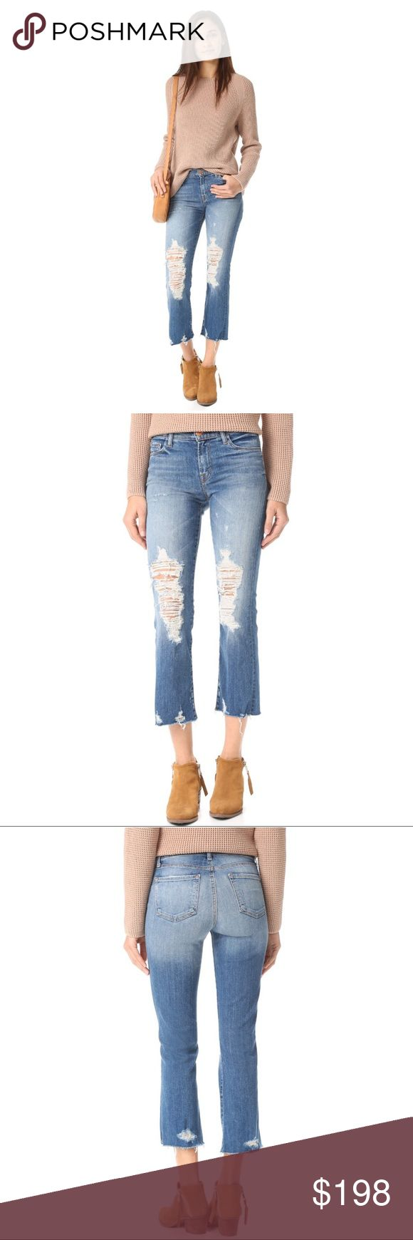 NWT J BRAND Selena Cropped Jeans Color: Torrent J Brand Jeans Ankle & Cropped