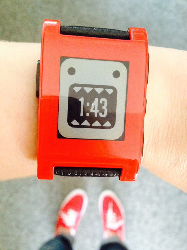 My Pebble watch with Domo watch app :)