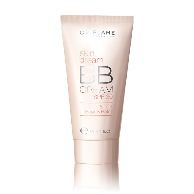Oriflame Skin Dream BB Cream SPF 30 - All-in-one solution fusing make-up, skincare and SPF protection. At once conceals all types of pigmentation, blemishes, discoloration and reduces appearance of pores. Hydrates and creates a perfect, lustrous skin tone. Use everyday for a dewy, flawless-look. Oil-free. SPF 30. 30 ml. Available in Light (26525) and Medium (26526).