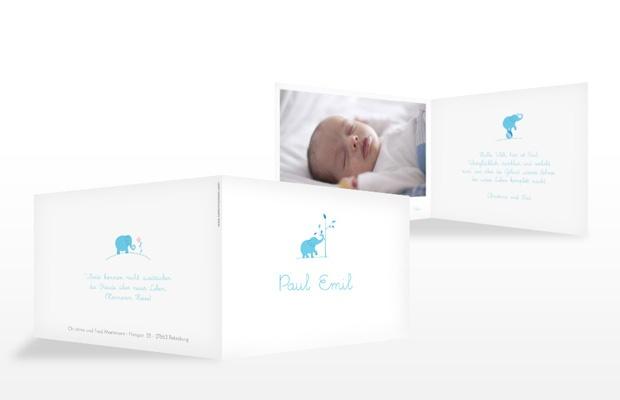 """Geburtskarte """"Elefant"""""""