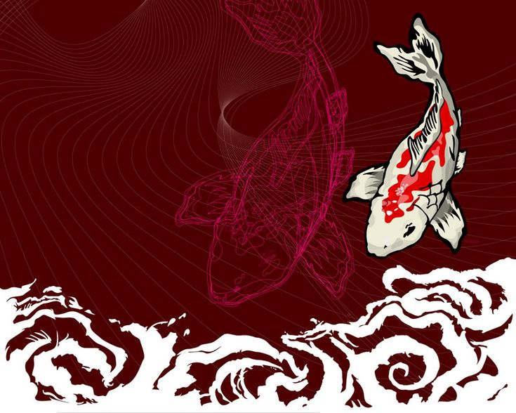 Butterfly koi fish koi fish wallpaper background theme for Koi fish wallpaper