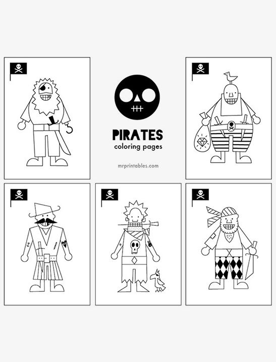 Pirates Coloring Pages - Mr Printables