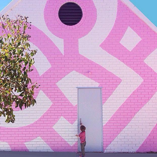 Wall 4 - pink stripes