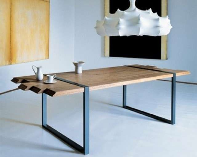 Tavoli in legno grezzo - Tavolo di Zanotta