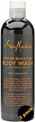 2 Pack Shea Moisture African Black Soap Body Wash * Continue to the product at the image link.