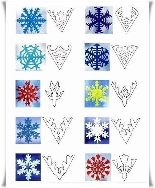 Схемы для снежинок.