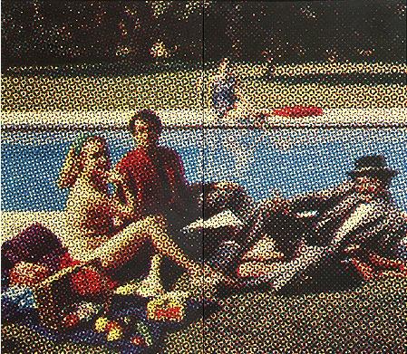 Le Déjeuner sur l'herbe par Alain Jacquet, 1963  sérigraphie sur papier