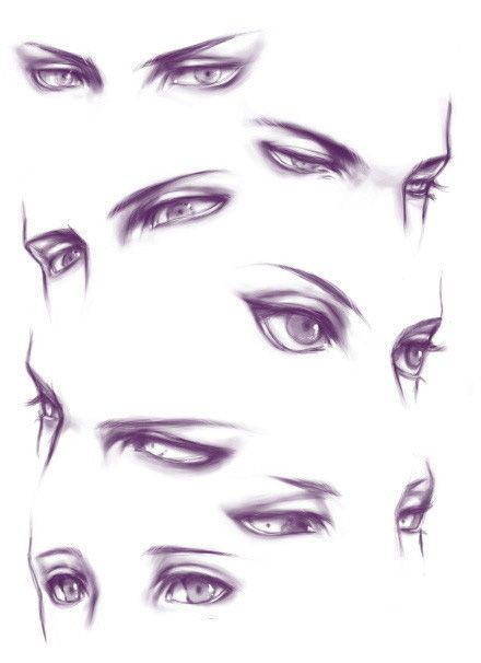 This is really cool.... But is it just me or do almost everyone of these look like a Loki facial expression.....? | how to draw eyes eye reference