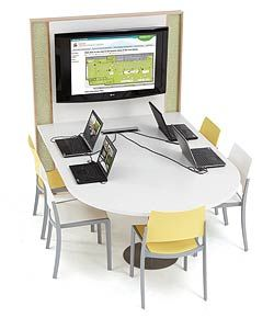 TechnoLink® Media Table - DEMCO Library Interiors