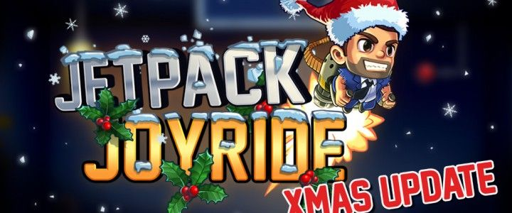 The brand new Jetpack Joyride update from Halfbrick Studios is full of christmas cheer - and Flappy Bird familiarity - http://goo.gl/qb3rPA