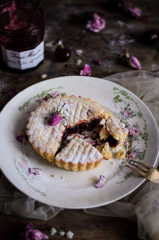 Coco e Baunilha: Gâteau Basque com doce de cereja // Gâteau Basque with cherry jam