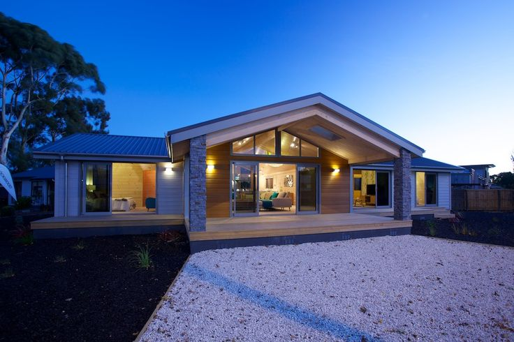 Exterior of Lockwood Madrid show home in Christchurch
