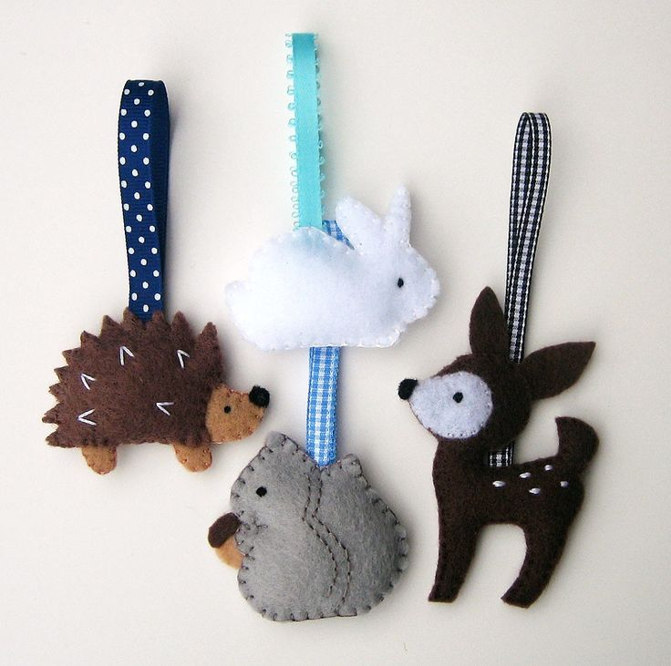 Handmade Felt Crafts- Woodland Animals