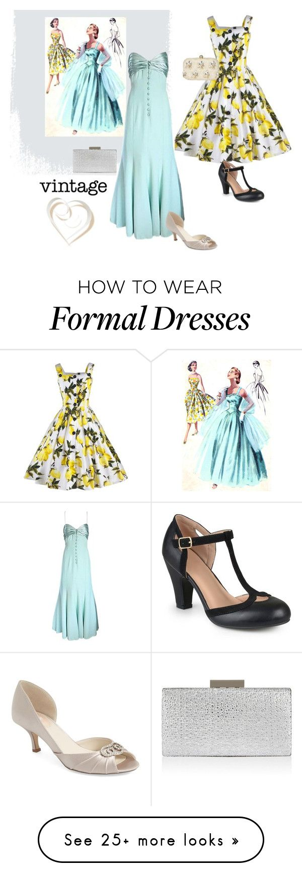 """""""vintage dresses"""" by summer1967 on Polyvore featuring Valentino, Pink Paradox London, Journee Collection, John Lewis, Monsoon and vintage"""