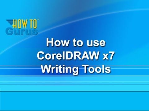 How to use the Writing Tools - CorelDRAW x7 Text Effects Tutorial