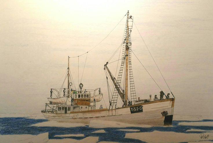 Old norwegian vessel Espenesvåg 1912-1970