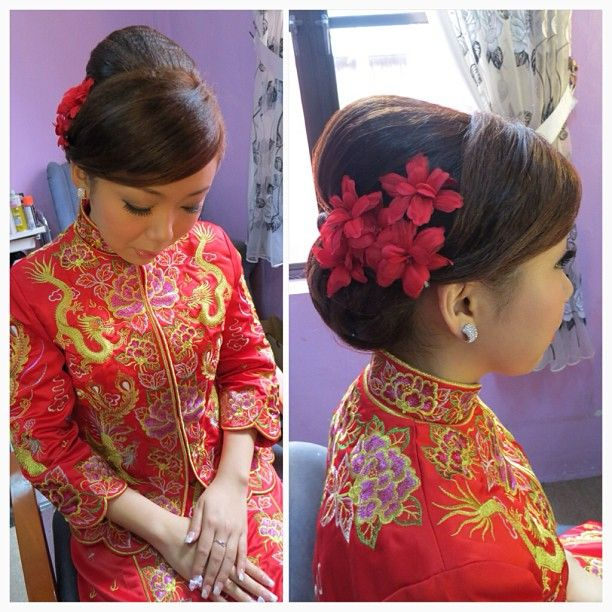 Chinese Bridal Hairstyles Classic Sleek Updo 新娘盘头发型: 17 Best Images About Wedding Hairstyle On Pinterest