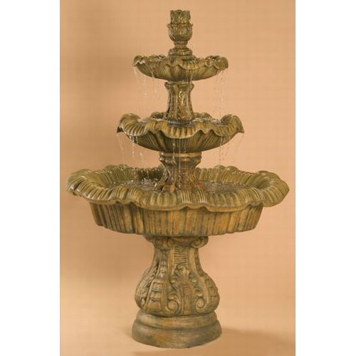Awesome Tiered Outdoor Water Fountains  Italian 3 Tier Outdoor Fountain Tall