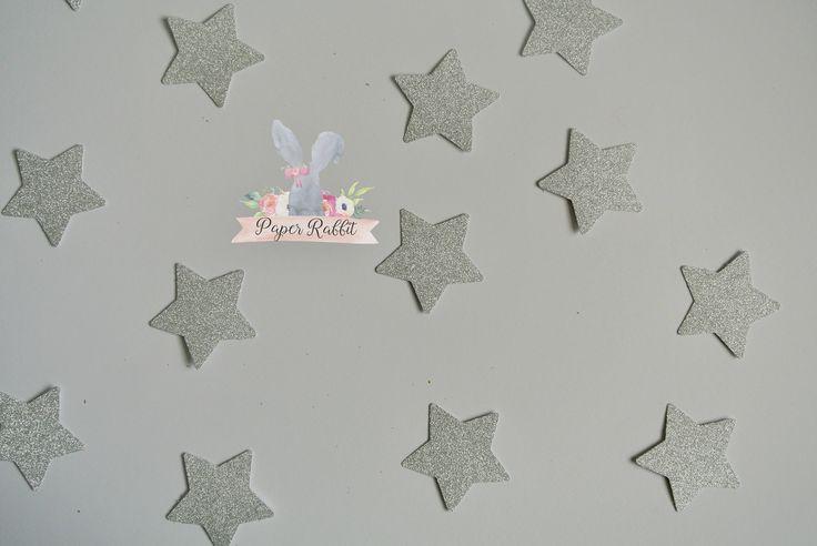 Glitter Star Confetti. 1st Birthday Party Decorations. Twinkle Twinkle Little Star Decorations. Twinkle Twinkle Little Star Baby Shower by PaperRabbit87 on Etsy