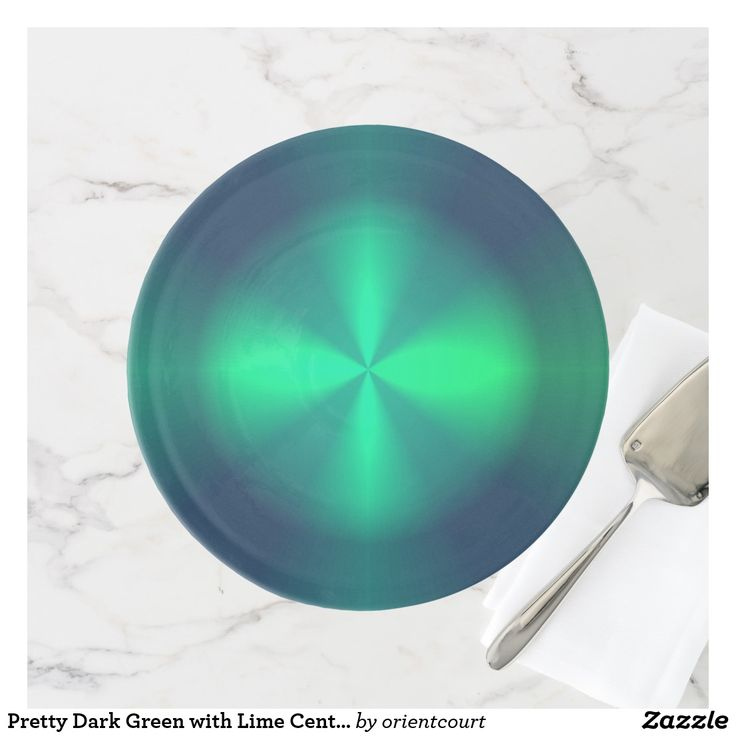 Pretty Dark Green with Lime Centre > Cake Stands
