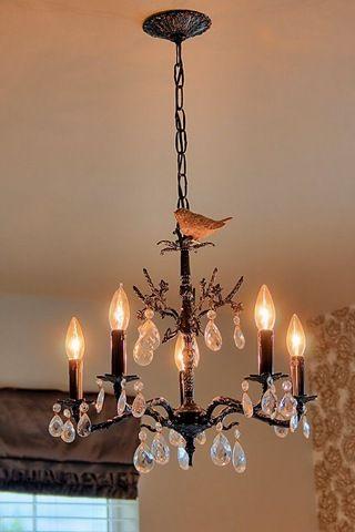 chandelier with bird: Birds Chandeliers, Decor Ideas, Nurseries Chandeliers, Nurseries Tours, Audrey Nurseries, Birds Clip, Baby Girls, Girls Rooms, Little Girls Nurseries