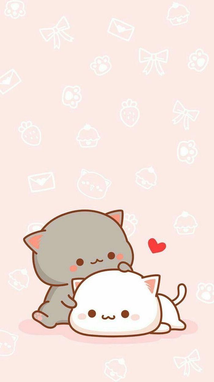 1001 Schone Bilder Zum Nachmalen Und Video Anleitungen Cute Anime Cat Cute Cat Wallpaper Cute Cartoon Wallpapers